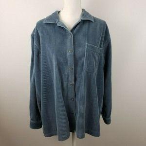 LL Bean XL Comfort Corduroy Wide Wale Big Shirt